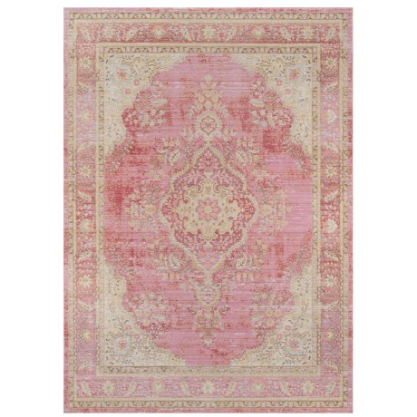 """Momeni Isabella Collection Area Rug - 7'10""""x10'6"""" in Pink Medallion"""