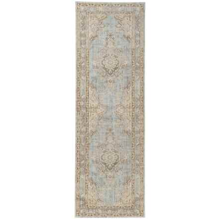 "Momeni Isabella Collection Floor Runner - 2'7""x8' in Blue Medallion - Closeouts"