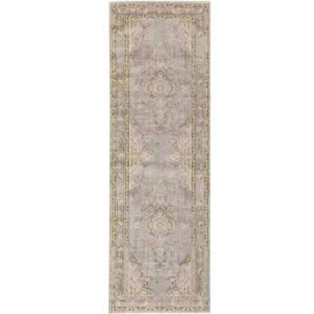 "Momeni Isabella Collection Floor Runner - 2'7""x8' in Grey Medallion - Closeouts"