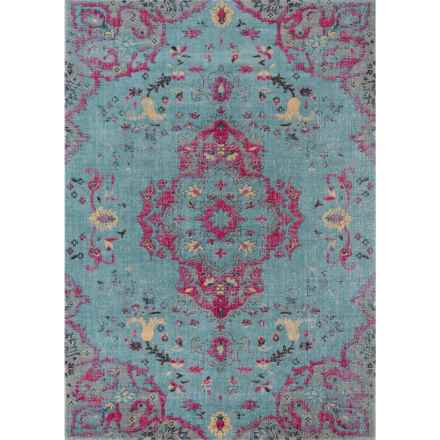 Momeni Jewel Collection Area Rug - 4x6' in Blue Medallion - Closeouts