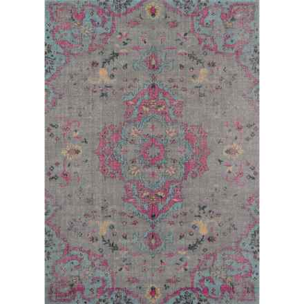 Momeni Jewel Collection Area Rug - 4x6' in Grey Medallion - Closeouts
