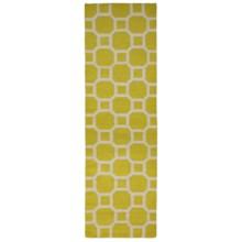 "Momeni Laguna Circle Flat Weave Wool Floor Runner - 2'3""x8' in Lemon - Closeouts"