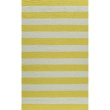 Momeni Laguna Stripe Flat Weave Wool Area Rug - 5x8' in Yellow - Closeouts