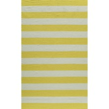 Momeni Laguna Stripe Flat-Weave Wool Area Rug - 5x8' in Yellow - Closeouts