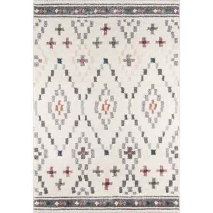 Momeni Lima Collection Plush Accent Rug - 2x3' in Ivory Diamonds - Closeouts