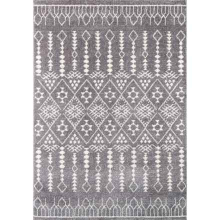 "Momeni Lima Collection Plush Area Rug - 5'3""x7'6"" in Grey - Closeouts"