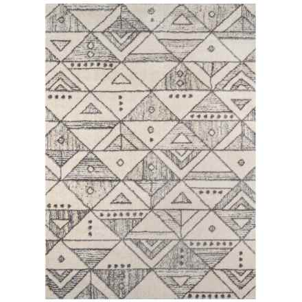 "Momeni Lima Collection Rug - 7'10""x9'10"" in Ivory Triangles - Closeouts"