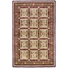 "Momeni Maison Collection Hand-Tufted Wool Area Rug - 5'3""x8' in Burgundy - Closeouts"