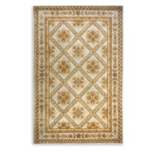 "Momeni Maison Collection Hand-Tufted Wool Area Rug - 5'3""x8' in Aqua Ma11 - Closeouts"