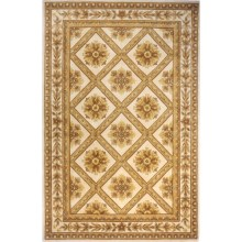 "Momeni Maison Collection Hand-Tufted Wool Area Rug - 5'3""x8' in Ivory Ma11 - Closeouts"
