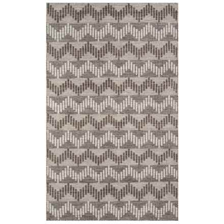 Momeni Mesa Collection Wool Area Rug - 4x6', Reversible in Grey - Closeouts