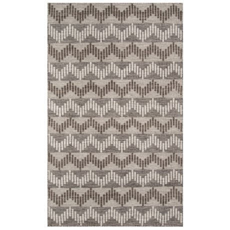 Momeni Mesa Collection Wool Area Rug - 4x6', Reversible in Grey