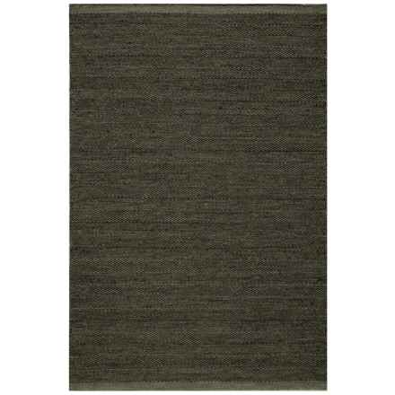 Momeni Mesa Collection Wool Area Rug - 4x6', Reversible in Smoke - Closeouts