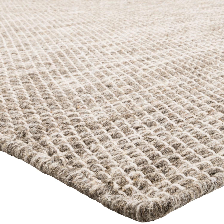 Momeni Mesa Flat Weave Natural Wool Area Rug   5x8u0027, Reversible