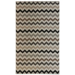 Momeni Mesa Flat-Weave Natural Wool Area Rug - Reversible, 5x8' in Honeycomb Brown