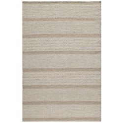 Momeni Mesa Flat-Weave Natural Wool Area Rug - Reversible, 5x8' in Chevron Grey