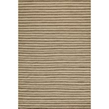 Momeni Mesa Flat-Weave Natural Wool Area Rug - Reversible, 5x8' in Natural Stripe - Overstock