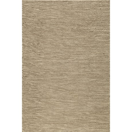 Momeni Mesa Flat-Weave Natural Wool Area Rug - Reversible, 5x8' in Natural