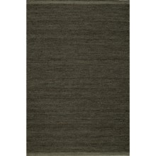 Momeni Mesa Flat-Weave Natural Wool Area Rug - Reversible, 5x8' in Smoke - Overstock
