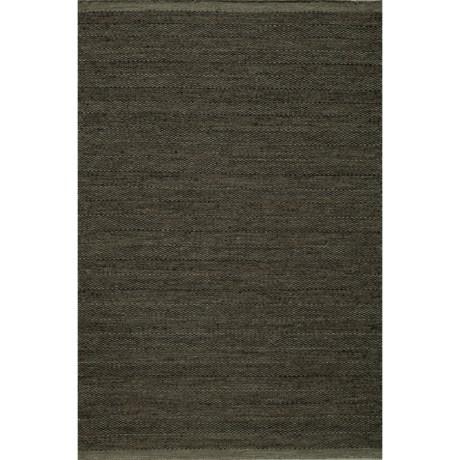 Momeni Mesa Flat-Weave Natural Wool Area Rug - Reversible, 5x8' in Smoke