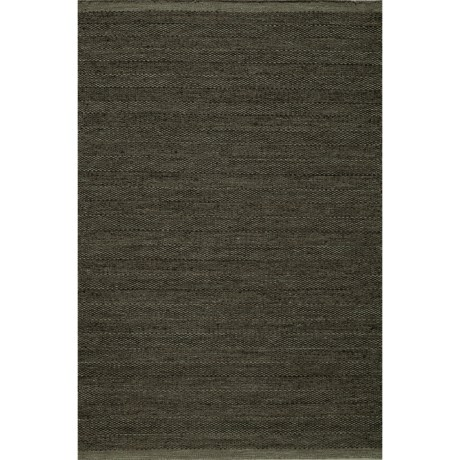 Momeni Mesa Flat-Weave Natural Wool Area Rug - Reversible, 5x8' in Smoke