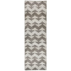 "Momeni Mesa Flat-Weave Natural Wool Floor Runner - 2'3""x8', Reversible in Chevron Natural"