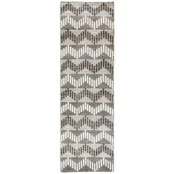 "Momeni Mesa Flat-Weave Natural Wool Floor Runner - 2'3""x8', Reversible in Brown Wide Stripe"