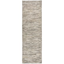 "Momeni Mesa Flat-Weave Natural Wool Floor Runner - 2'3""x8', Reversible in Heathered Natural - Overstock"