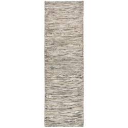 "Momeni Mesa Flat-Weave Natural Wool Floor Runner - 2'3""x8', Reversible in Heathered Natural"