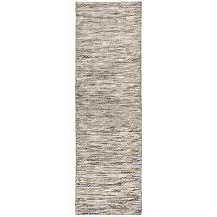 "Momeni Mesa Flat-Weave Natural Wool Floor Runner - 2'3""x8', Reversible in Heathered Natural - Overstock"