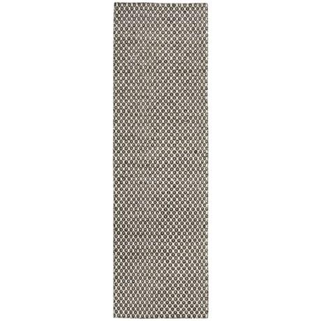 """Momeni Mesa Flat-Weave Natural Wool Floor Runner - 2'3""""x8', Reversible in Chevron Natural"""