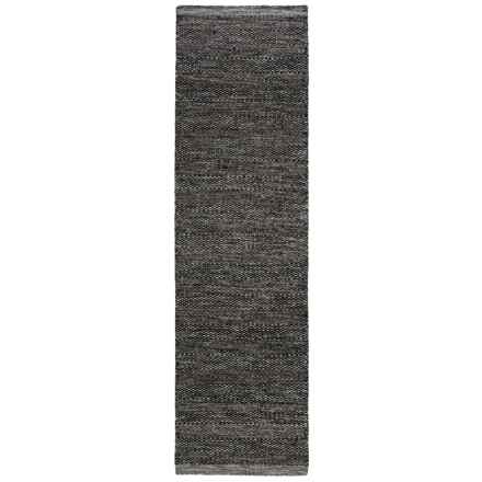 "Momeni Mesa Flat-Weave Natural Wool Floor Runner - 2'3""x8', Reversible in Smoke - Overstock"