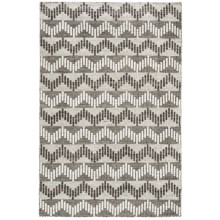 "Momeni Mesa Flat-Weave Reversible Area Rug - 3'6x5'6"" in Chevron Grey - Overstock"