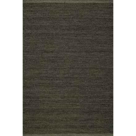 Momeni Mesa Flat-Weave Reversible Natural Wool Area Rug - 8x10' in Smoke - Overstock