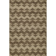 Momeni Mesa Wool Accent Rug - 2x3', Reversible, Flat-Weave in Chevron Grey - Overstock