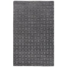 Momeni Metro Basket-Weave Wool Area Rug - 5x8' in Charcoal - Closeouts