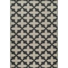 """Momeni Moroccan Lattice Indoor/Outdoor Area Rug - 3'11""""x5'7"""" in Charcoal - Overstock"""