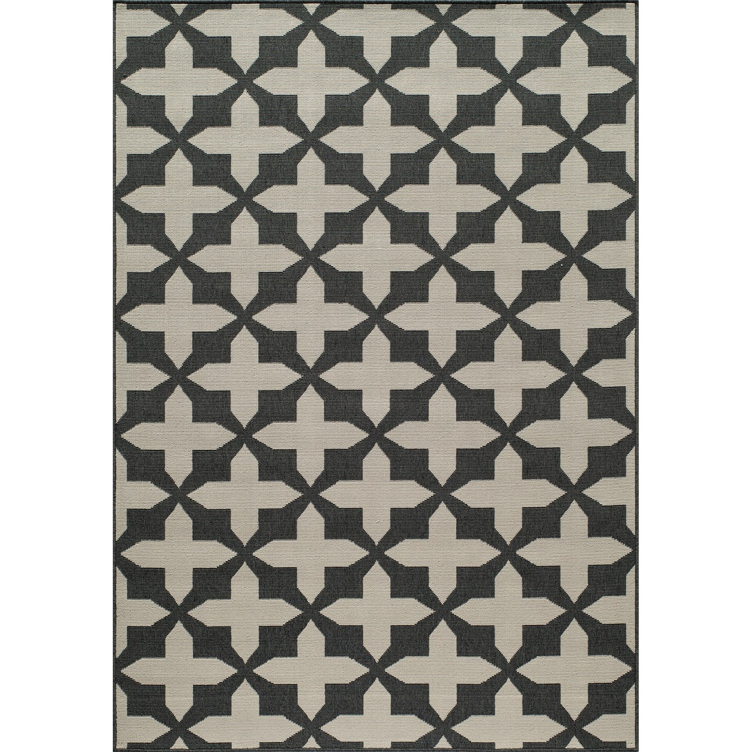 "Momeni Moroccan Lattice Indoor Outdoor Area Rug 5'3""x7'6"