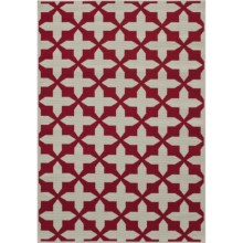 "Momeni Moroccan Lattice Indoor/Outdoor Area Rug - 5'3""x7'6"" in Red - Overstock"