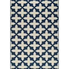 """Momeni Moroccan Lattice Indoor/Outdoor Area Rug - 6'7""""x9'6"""" in Navy - Overstock"""