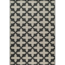 "Momeni Moroccan Lattice Indoor/Outdoor Area Rug - 6'7""x9'6"" in Charcoal - Overstock"