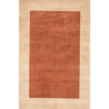 """Momeni New Wave Collection Solid Border Area Rug - 7'6""""x9'6"""",  Hand-Tufted Wool in Copper - Closeouts"""