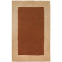Momeni New Wave Hand-Tufted Wool Area Rug - Solid Border, 5x8' in Copper - Closeouts