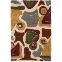 Momeni New Wave Transitional Hand-Tufted Wool Rug - 2x3' in Multi Abstract - Closeouts
