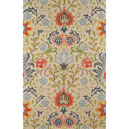 Momeni Newport Collection Area Rug - 5x8', Hand-Hooked Wool in Multi Floral - Closeouts