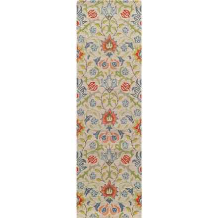 Momeni Newport Collection Floor Runner - 2'3x8', Hand-Hooked Wool in Multi Floral - Closeouts