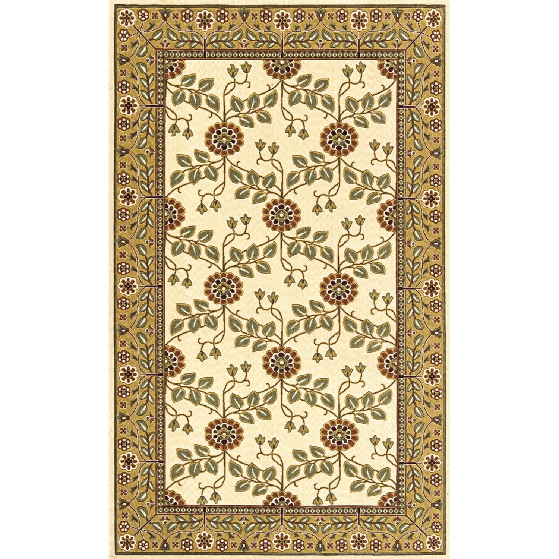momeni nouveau arts crafts wool area rug 3x5 in ivory. Black Bedroom Furniture Sets. Home Design Ideas