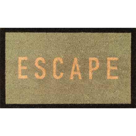 "Momeni Novogratz Aloha Escape Doormat - 1'6""x2'6"" in Blue - Closeouts"