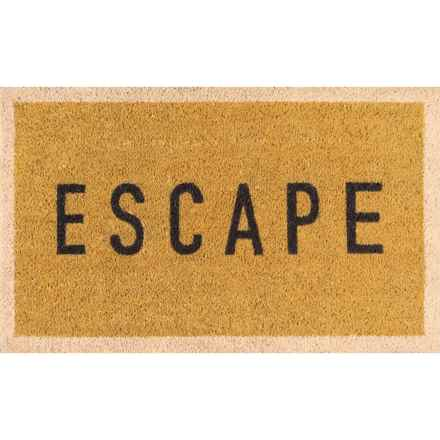 """Momeni Novogratz Aloha Escape Doormat - 1'6""""x2'6"""" in Gold - Closeouts"""