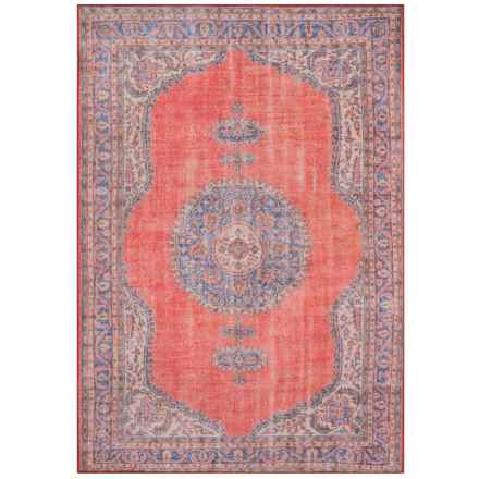 Momeni Red Flat Weave Medallion Area Rug 7 6 X9